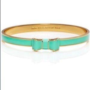 Kate Spade Blue Bow Bangle Bracelet